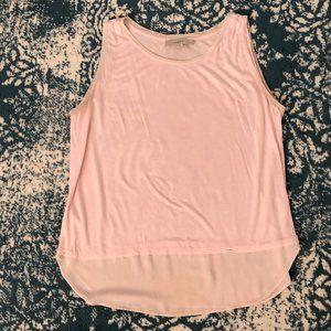 Ann Taylor Loft Soft Pink Tank Top Size Large